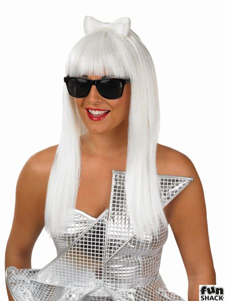 Womens Pop Diva Wig And Glasses
