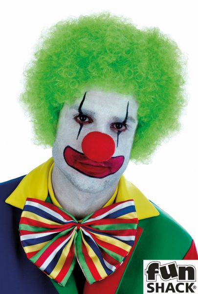 adults Green Clown Wig Thumbnail 1