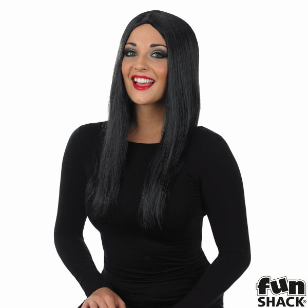 Womens Long Black Wig