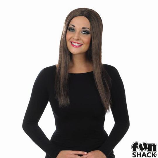 Womens Long Brown Wig Thumbnail 1