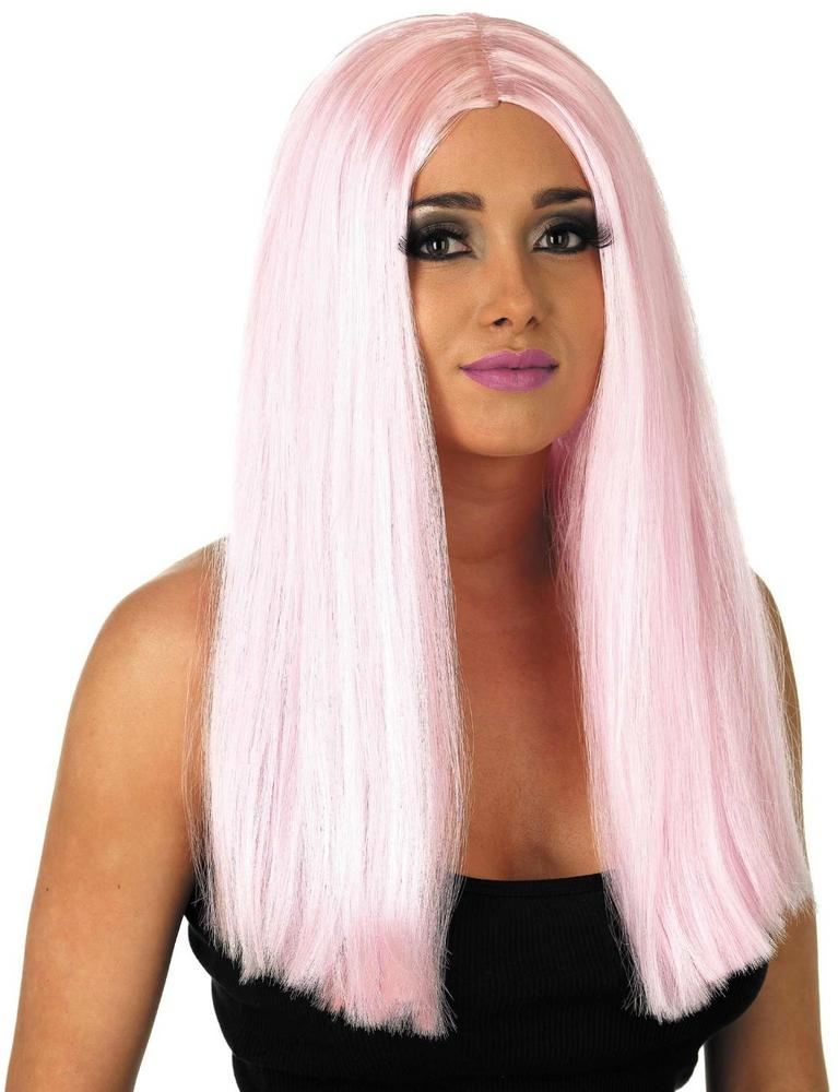 Womens Long Baby Pink Wig