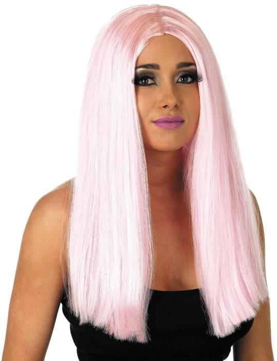 Womens Long Baby Pink Wig Thumbnail 1