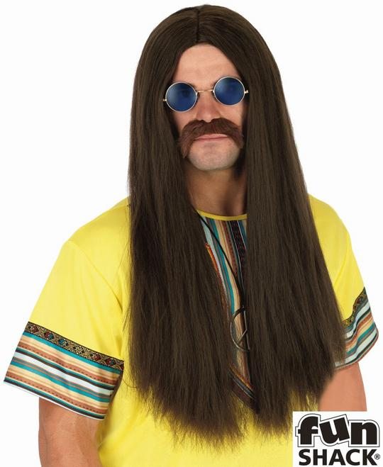Brown Hippie Wig Thumbnail 1