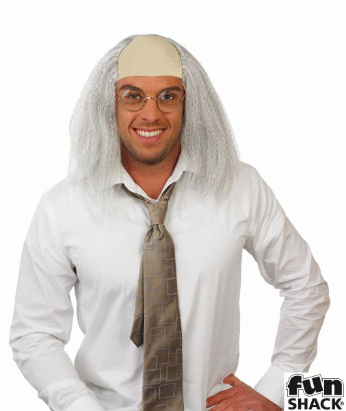Adult Mad Professor Wig Mens Halloween Party Fancy Dress Costume Accessory Thumbnail 1