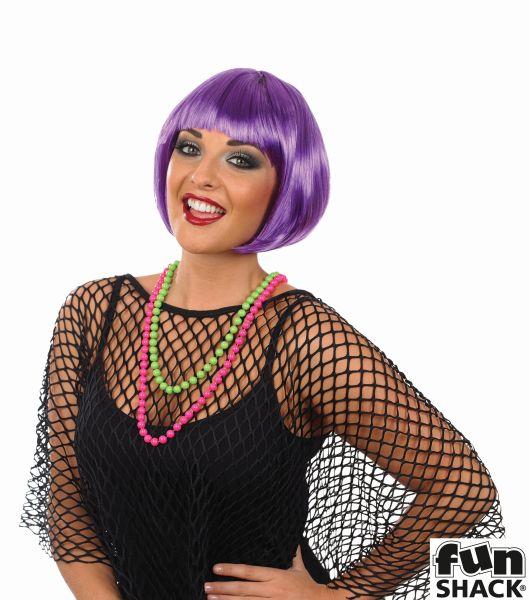 Womens Hot Purple Bob Wig Thumbnail 1