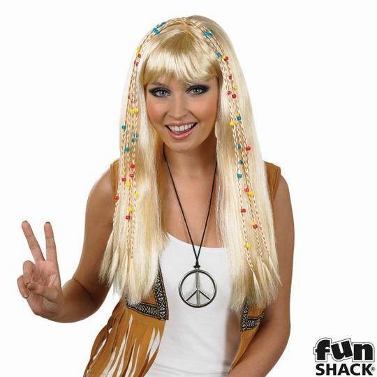 Blonde Braided Hippie Wig Thumbnail 1
