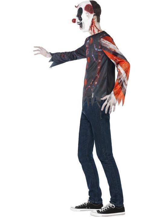 SALE Kids Evil Sinister Creepy Clown Kit Boys Halloween Fancy Dress Teen Costume Thumbnail 3