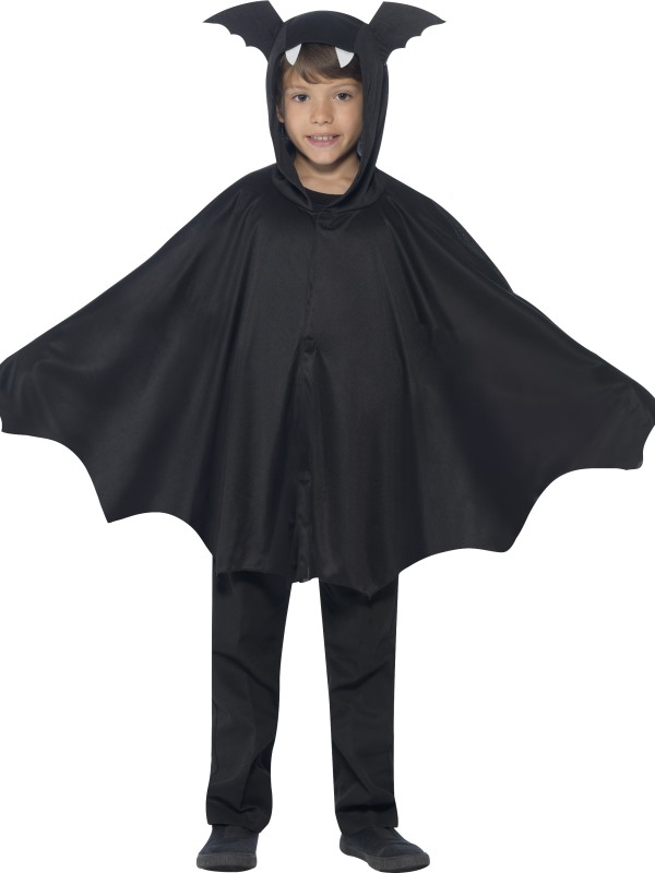 SALE Kids Spooky Black Bat Cape Girls / Boys Halloween Party Fancy Dress Costume