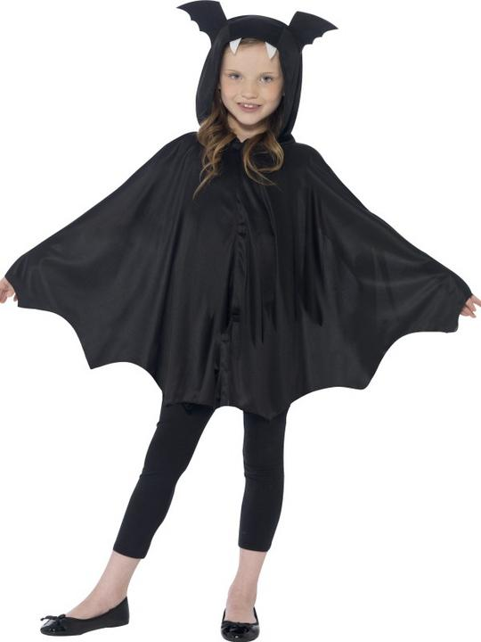 SALE Kids Spooky Black Bat Cape Girls / Boys Halloween Party Fancy Dress Costume Thumbnail 2