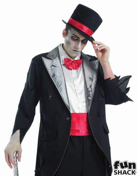 Men's Corpse Groom Fancy Dress Costume Thumbnail 1