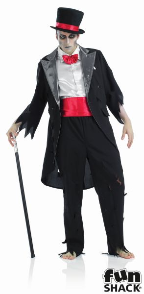 Men's Corpse Groom Fancy Dress Costume Thumbnail 2