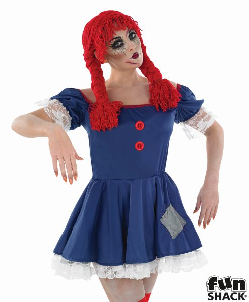 Women's Rag Doll Fancy Dress Costume
