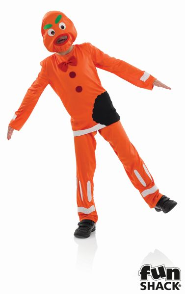 Boys Ginger Bread Man Fancy Dress Costume  Thumbnail 2