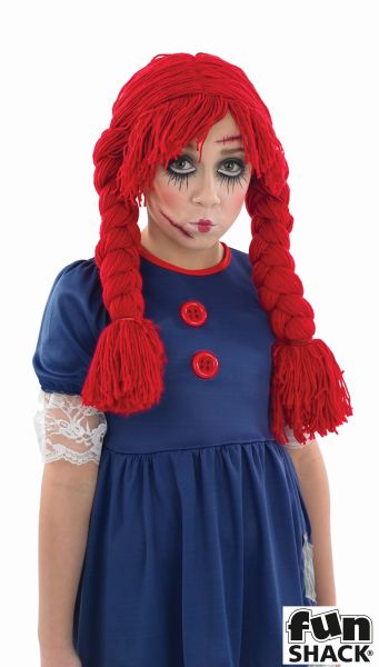 Girl's Rag Doll Fancy Dress Costume