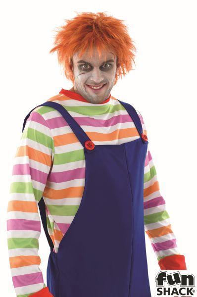 Men's Evil Doll Fancy Dress Costume