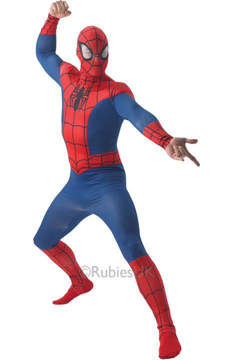 SALE! Adult Marvel Superhero Spider-Man Mens Fancy Dress Costume Party Outfit Thumbnail 1