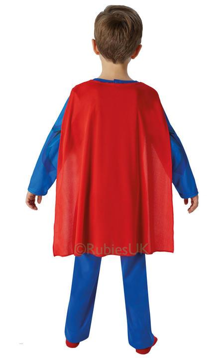 SALE! Kids Classic Marvel Comic Book Superhero Superman Boys Fancy Dress Costume Thumbnail 2