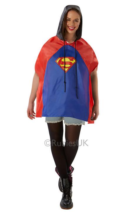 Adult Superman Festival Poncho  Thumbnail 1