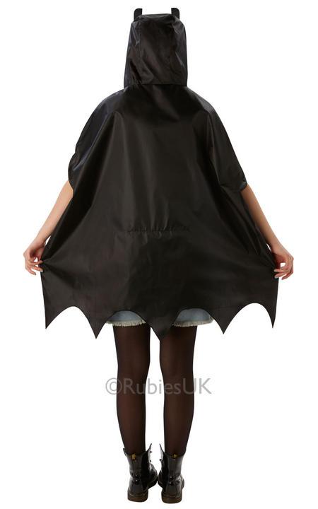SALE! Adult Superhero Batman Festival Poncho Ladies / Mens Fancy Dress Costume Thumbnail 2