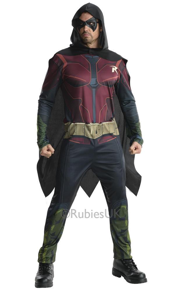 Adult Arkham Robin Fancy Dress Costume
