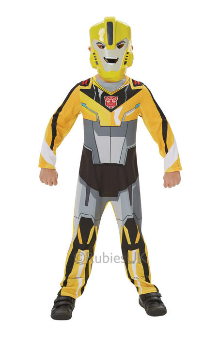 SALE! Kids Transformers Bumble Bee Boys Fancy Dress Childs Costume Party Outfit Thumbnail 1