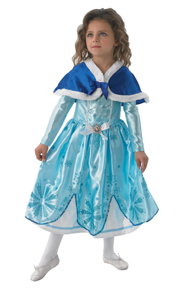 Childs Disney Princess Sofia The First Fancy Dress Kids Winter Costume Blue