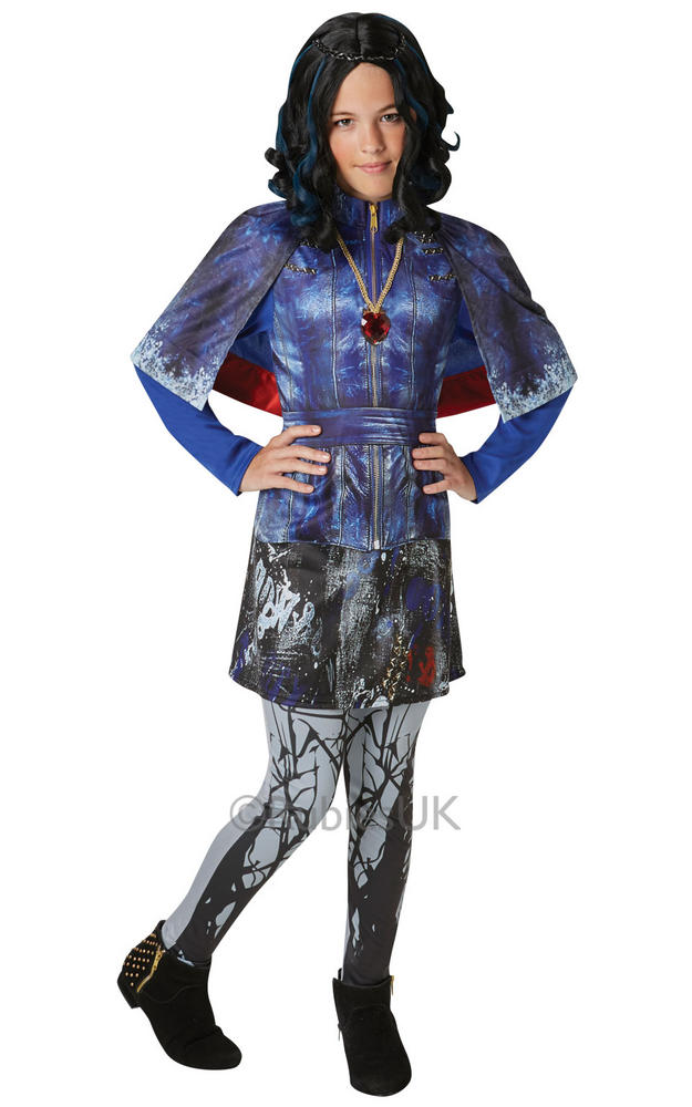 Deluxe Evie Girls Fancy Dress Disney Descendants Movie Film Childrens Costume