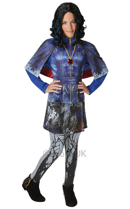 Deluxe Evie Girls Fancy Dress Disney Descendants Movie Film Childrens Costume Thumbnail 1