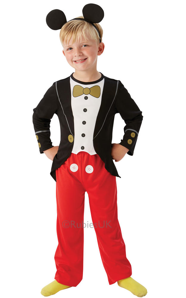 Boys Disney Tuxedo Mickey Mouse Book Day Fancy Dress Costume Outfit