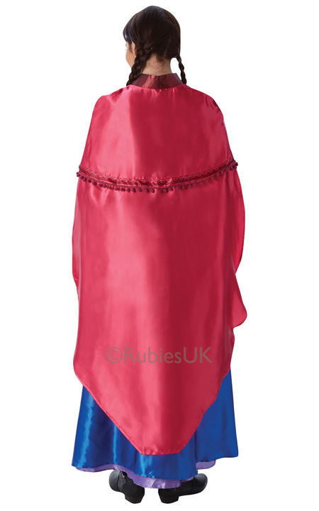 Stunning Disneys Frozen Princess Anna Ladies Fancy Dress Costume Party Outfit Thumbnail 2
