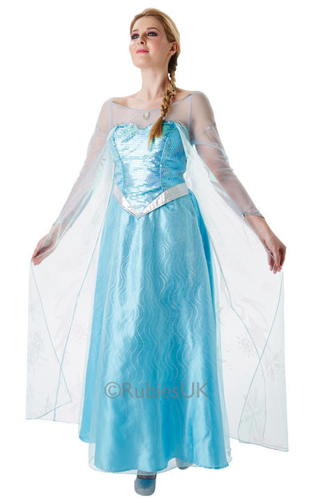 SALE! Adult Disney Frozen Princess Elsa Ladies Fancy Dress Costume Party Outfit Thumbnail 1