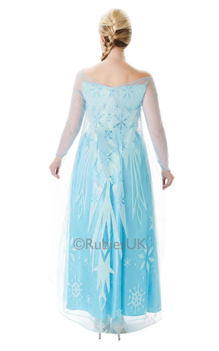 SALE! Adult Disney Frozen Princess Elsa Ladies Fancy Dress Costume Party Outfit Thumbnail 2