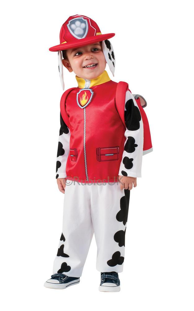 Paw Patrol Marshall Boys Fancy Dress Kids Childs Cartoon Fireman Costume Outfit