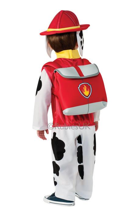 Paw Patrol Marshall Boys Fancy Dress Kids Childs Cartoon Fireman Costume Outfit Thumbnail 2