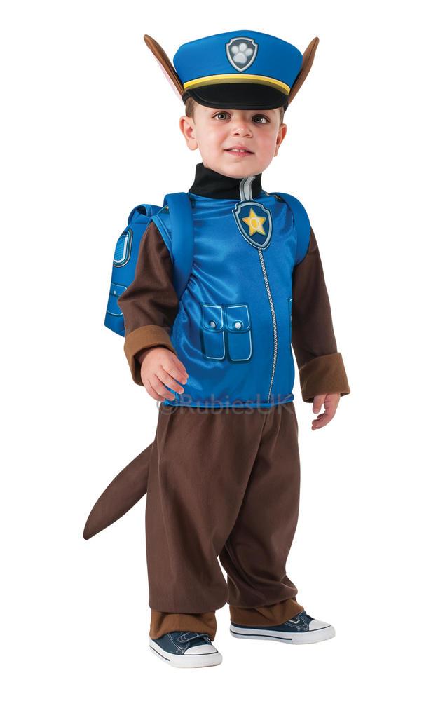 SALE Kids TV Cartoon Paw Patrol Police Dog Chase Boys Fancy Dress Childs Costume