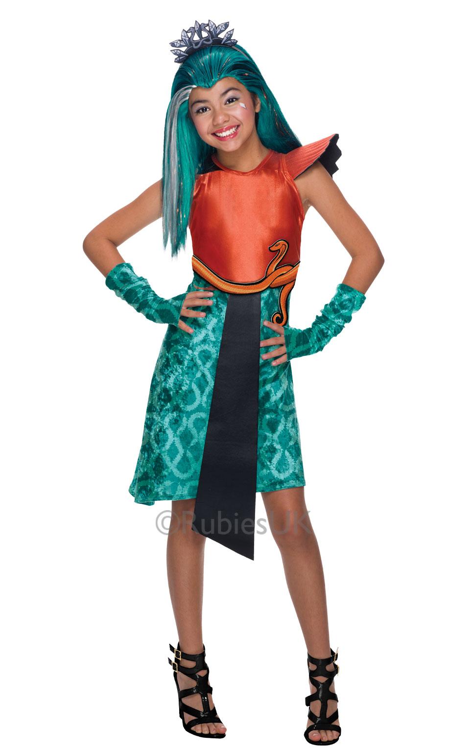 girls halloween monster high nefera de nile costume kids fancy dress outfit. Black Bedroom Furniture Sets. Home Design Ideas