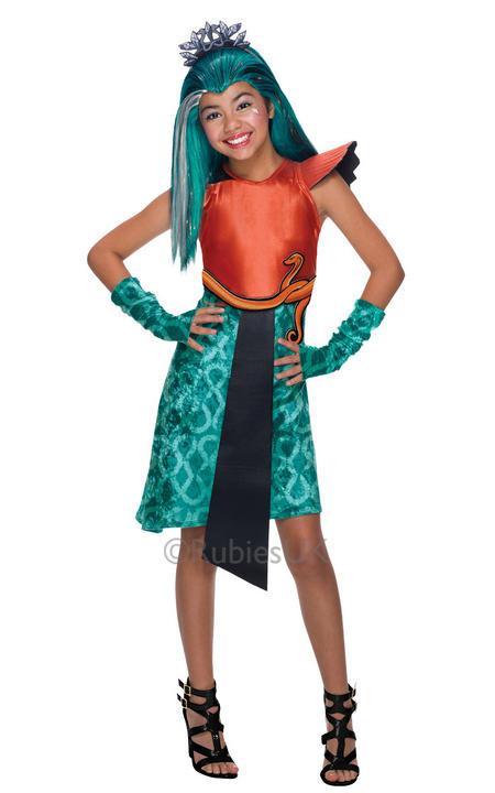 Girls Halloween Monster High Nefera De Nile Costume Kids Fancy Dress Outfit Thumbnail 1