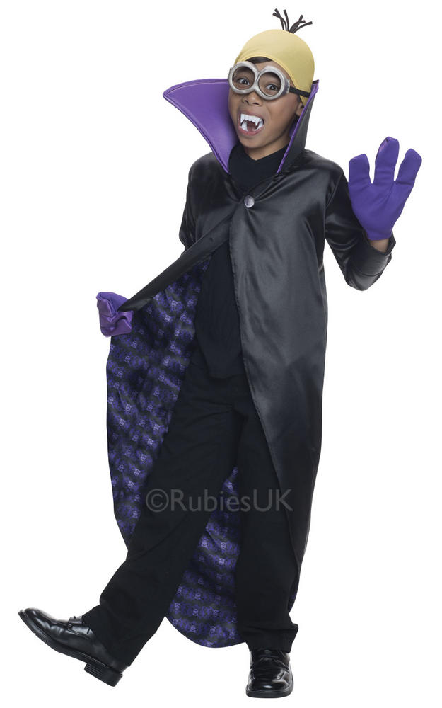 Minion Dracula Boys Fancy Dress Despicable Me Kids Childs Halloween Costume