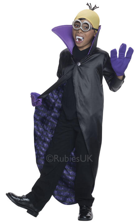Minion Dracula Boys Fancy Dress Despicable Me Kids Childs Halloween Costume Thumbnail 1