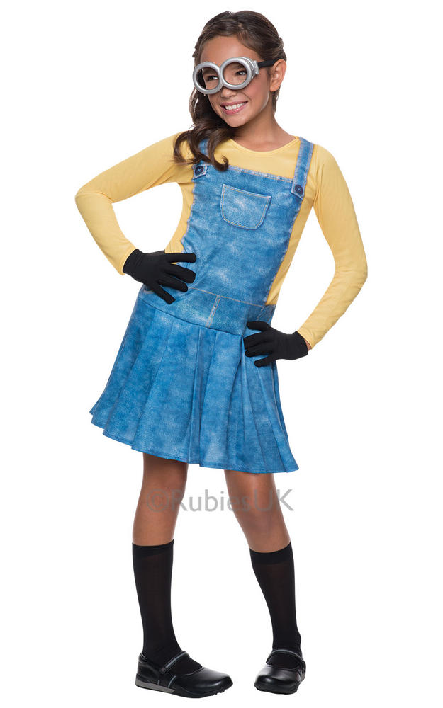 Official Girls Despicable Me Minion Childs Halloween Fancy Dress Costume Outfit