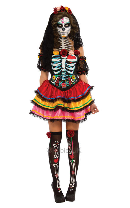 Ladies Day of the Dead Senorita Costume  Thumbnail 2