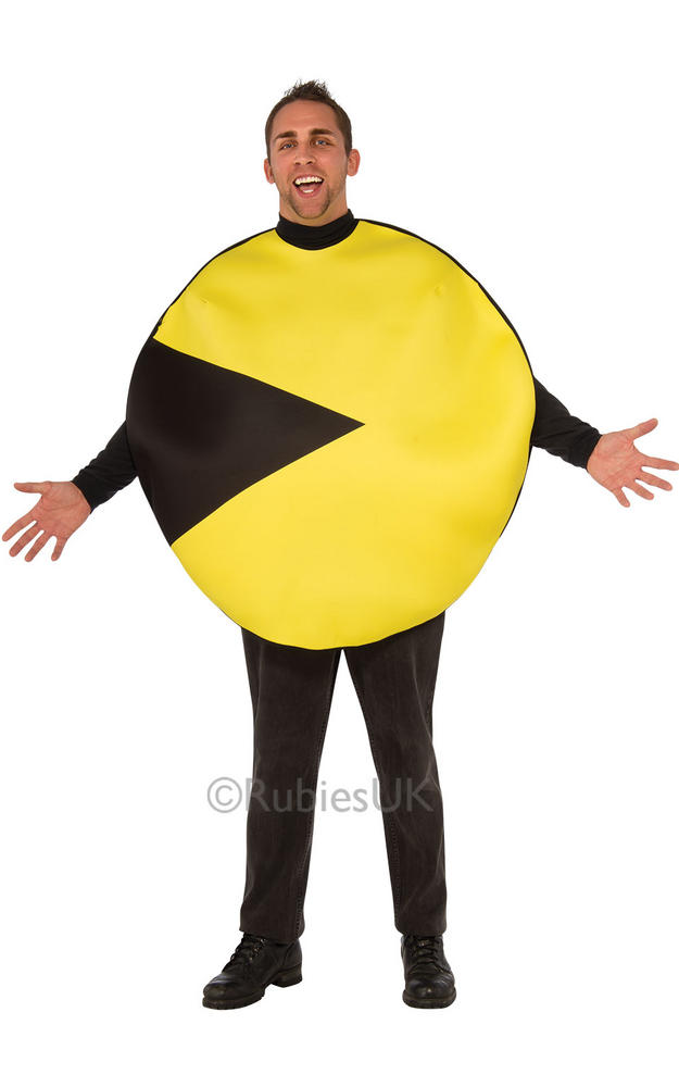 Adults Pacman Fancy Dress Costume