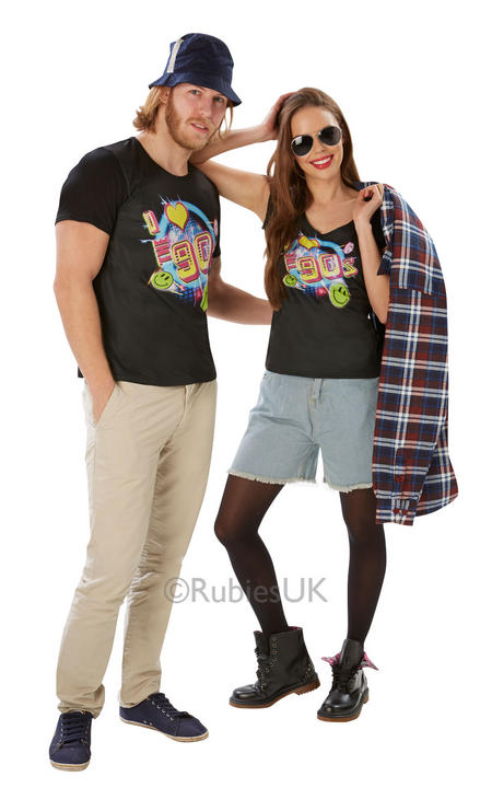 I Love the 90s TShirt Womens Costume 1990s Ladies Fancy dress outfit Dressup Thumbnail 2