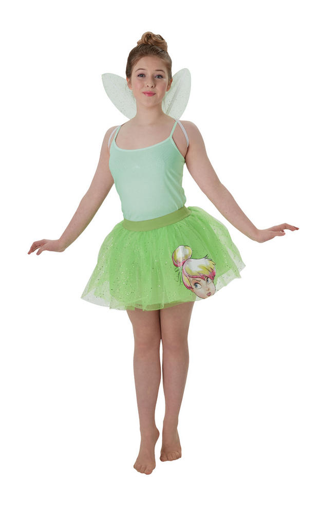 Tinkerbell Kit Disney Licensed Womens Costume Ladies Fancy Dress Outfit Fairytal