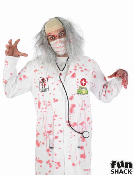SALE! Adult Walking Dead Zombie Doctor Mens Halloween Fancy Dress Costume Outfit Thumbnail 1
