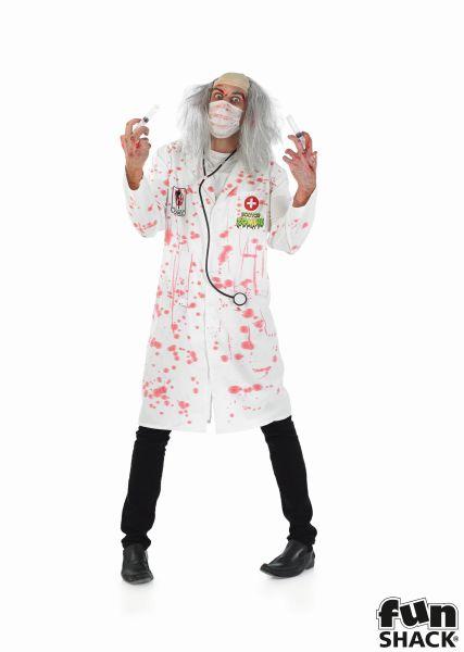 SALE! Adult Walking Dead Zombie Doctor Mens Halloween Fancy Dress Costume Outfit Thumbnail 2