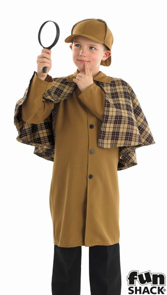 Boys Victorian Detective Fancy Dress Costume