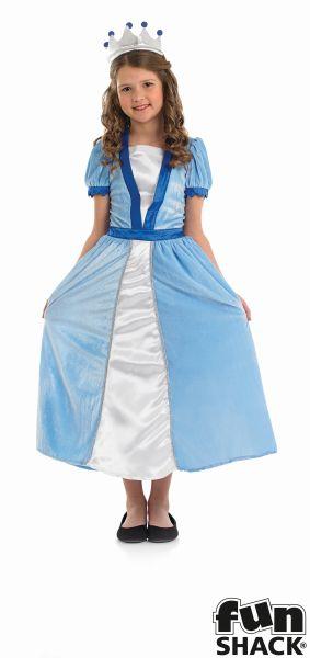 Girls Blue Princess Fancy Dress Costume  Thumbnail 2