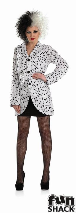 Women's Dalmation Jacket Fancy Dress Costume  Thumbnail 1