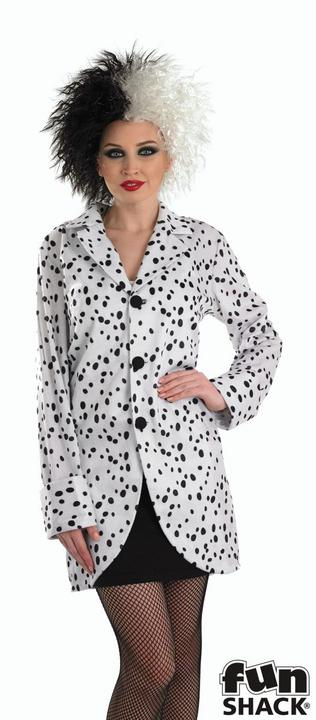 Women's Dalmation Jacket Fancy Dress Costume  Thumbnail 2